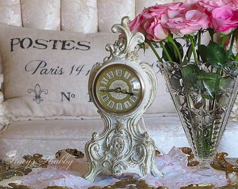 Beautiful Vintage FRENCH Style ELECTRIC CLOCK, Paris Apartment, Shabby Chic