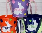 Easter Basket - Personalized Easter Bucket - Easter Egg Hunt - Easter Bunny - Cute Bucket for Easter - Personalized Bucket - Monogram Easter