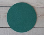 Round Felt Pad / Trivet - 8 inches - 100% Merino Wool  - 5mm Thick - German-milled - Rich, Lightfast Colors - Eco-Friendly - Dark Green