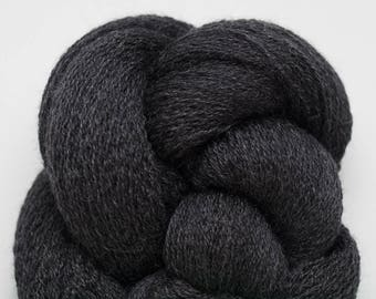 Charcoal Slate Recycled Fine Merino Lace Weight Yarn, MER00258