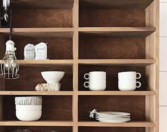 Vintage Wood Cabinet/Shelving Unit