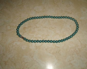 vintage necklace turquoise metal beads