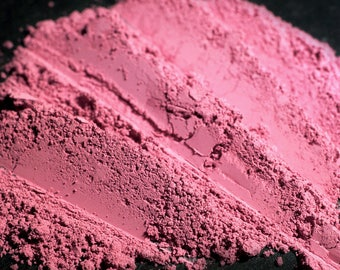 Matte Petal Pink Blush Num. B09 The Doorkeeper – Cool Toned Flat Fuchsia Blusher - Loose Powder Cheek Color - Vegan