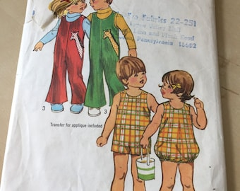 Simplicity #5049 - Size 1 Toddlers' Jumpsuit in Two Lengths and Bubblesuit Pattern