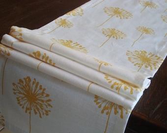 Dandelion Yellow Table Runner Yellow Dandelion Runner 12x82