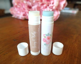 Custom Lip Balm - Lip Balm Wedding Favor - Lip Balm Kit - Custom Chapstick - Marketing Gifts - Promotional Products, Set of 15