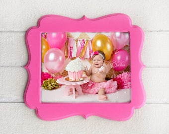 Picture Frame, 16x20, wooden frame, rustic frame, pink frame, choose color and style