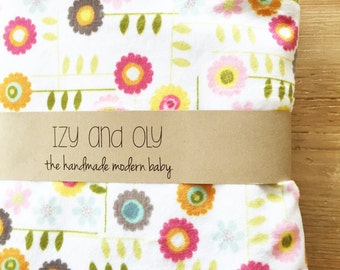 Stroller Blanket Double Sided Minky Cuddle - Retro Floral