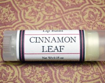 Cinnamon Leaf Lip Balm - Herbal Lip Balm - Cinnamon Leaf Oval Lip Salve