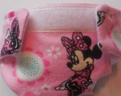 READY TO SHIP #1 cloth doll diaper mouse pink bow fits baby alive fits snackin sara sips n cuddles baby all gone better now Bailey and more