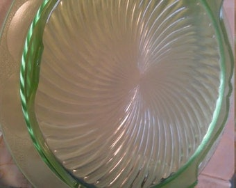 Vintage green cake plate