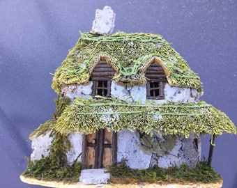 Hand made Thatched Cottage,Fairy Cottage,Fairy Village