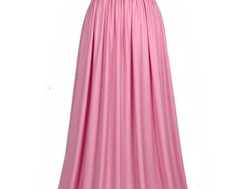 Evening Dress Formal Gown Gala Maxi Dress Bridesmaid Women Plus Size Dress Clothing Pastel Peach Pink Wedding Dress Full Length Long Summer