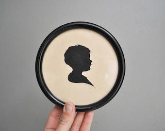 Vintage Petite Paper Cut Silhouette Portrait