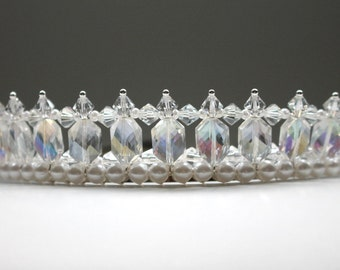 Beautiful Eligant Crystal Tiara, Bridal Tiara, Flower Girl Tiara, princess Tiara
