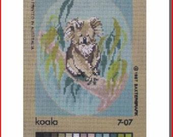 Very Cute Needlepoint Canvas: Koala