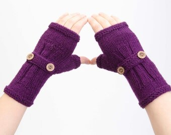 Fingerless gloves,knited gloves in blush pink