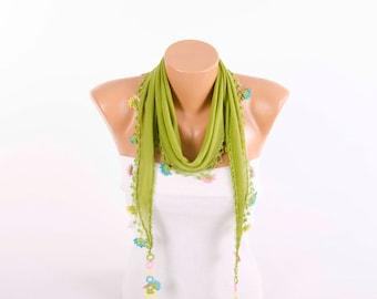 Oya  scarf , summer scarf ,