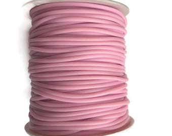 Pink Rubber cord 2mm Pink Hollow Rubber tubing rubber cord S 40 182