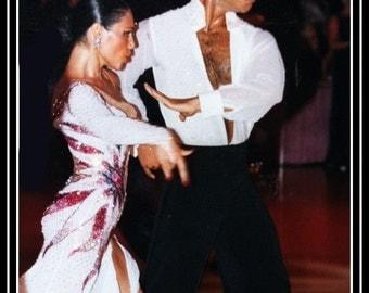 Dance  Dress with Swarovsky Crystals  Dance Latin dresses