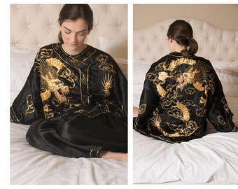 Sold Out / Vintage Asian Embroidered Pajamas