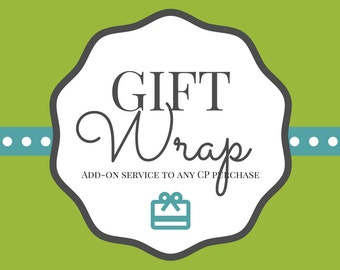 GIFT WRAP, Add-on to any Conversation Piece Purchase