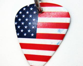 Guitar Pick with the American Flag on it