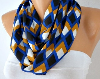 Chevron  Infinity Scarf,Fall Winter Scarf,Christmas Gift,Circle Scarf Loop Scarf  Gift -fatwoman
