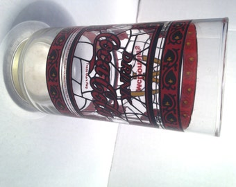 Vintage McDonalds stained glass Coca Cola glass - 1980s MacDonalds Coca Cola glass - McDonald's -  At Everything Vintage shipping is on us!