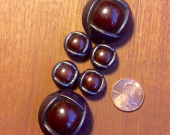 Vintage Bubble Buttons, Metal backs