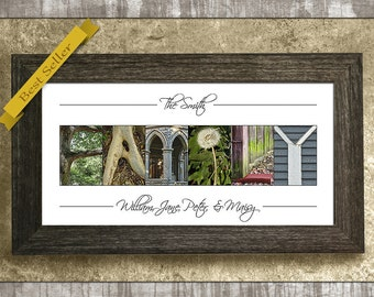 Mother's Day Gift, Family Sign, Personalized Name Sign, Last Name Gift, Alphabet Photography, Blended Family Gift, Gift for Mom