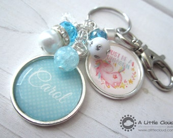 Unicorn Beaded Keychain, Unicorn keychain, Be a Unicorn