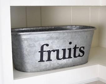 Fruits Kitchen Storage Tub