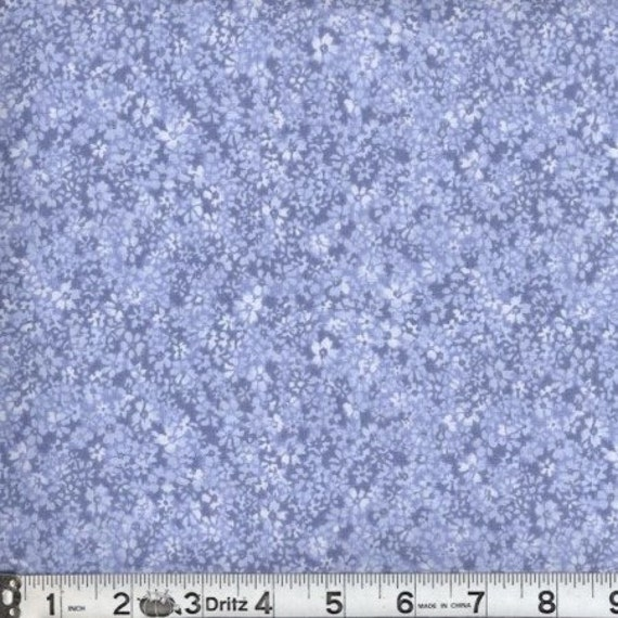 Blue flower fabric,Blue tone on tone fabric,Reproduction fabric,Miniature flower fabric,100% cotton fabric,Sold by FAT QUARTER INCREMENTS