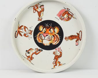 Tony the Tiger tray / Vintage advertising tray / Kelloggs Frosted Flakes / 60s advertising / Bar serving tray