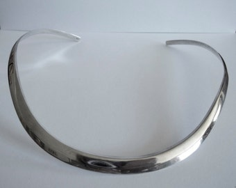 Sterling Silver Cuff Collar Necklace