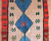 "260X155cm (8' 6""X5' 1""feet)FREE SHIPPING WORLDWIDE AZ29344 Azilal ,Ourika ,Beni Ourain vintage berber rug Morocco,wool carpet ,boucherouite"