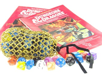 Dungeons And Dragons Golden Dice Bag - Magic The Gathering - Large Pouch - SKDB-AL-L-GD