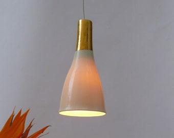 Unique porcelain bell with gold, Hanging lamp, Pendant lights, Bar lights.