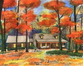 Melissa's paintings of houses
