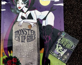 Monster Pin Up Girls Playing Cards & Art Book Combo Deal