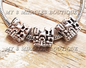 CASTLE Bead European Style Antique Silver for fits Bracelets Charm Girls Princesses Cinderellas Fairy-Tale Pageant DIY Christmas Gift Ideas