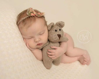 Bear,newborn photo,outfit, girl,boy,knit, coming home, baby boy, baby girl, photo prop, photography prop
