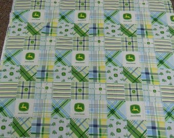 """John Deere novelty fabric 2 yds. x 44""""  Designed to look like traditional nine patch quilt blocks  cotton  by Springs Creative Group"""