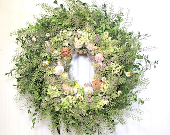 Dried Floral Wreath, Natural Wreath, Dried flower Wall Decor, SummerSweet Boutique
