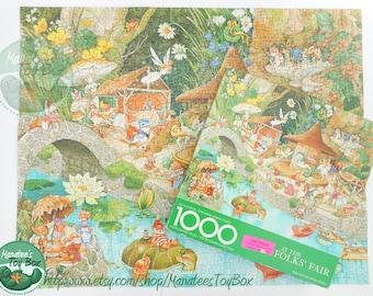 "Vintage Springbok Puzzle ""At the Wee Folks' Fair"" Complete 1000 Pieces Vintage"
