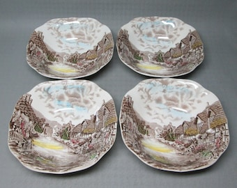 Johnson Brothers Old English Countryside 4 soup cereal bowls