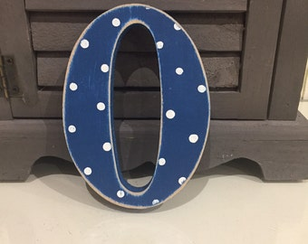 Painted Wooden Letter O - Large , Fairytale Font, 50cm high, almost 20 inch, any colour, wall letter, wall decor, 18mm