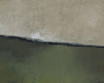 Abstract Landscape Painting by John Shanabrook - 5 x 7 - Morning Wet