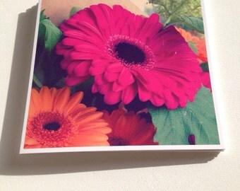 Square Greeting Card - Gerbera